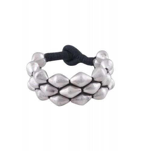 Silver Dholki Beads Paunchi