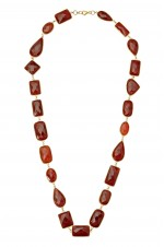 Tribebyamrapali-Silver Red Onyx Necklace
