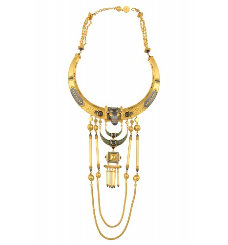 Gold Plated Shiva Statement Necklace