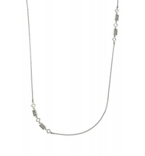 Silver Aquamarine Chain Necklace