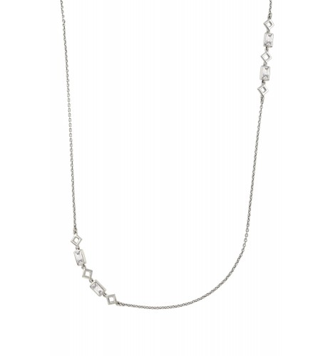Silver Cubic Zirconia Chain Necklace