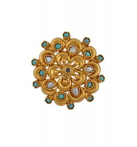Turquoise Pearl Flower Pendant