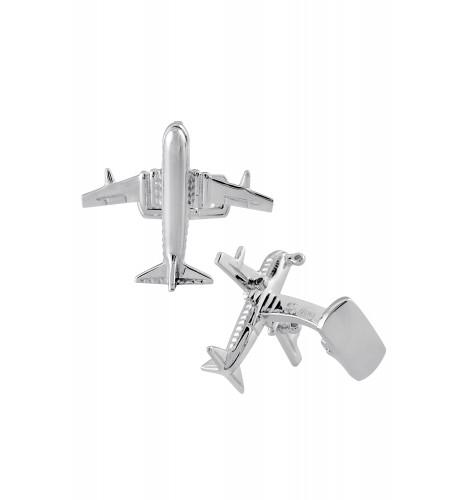 Silver Textured Plane Cufflinks