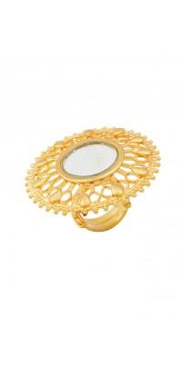 Silver Maharani Fountain Mirror Ring